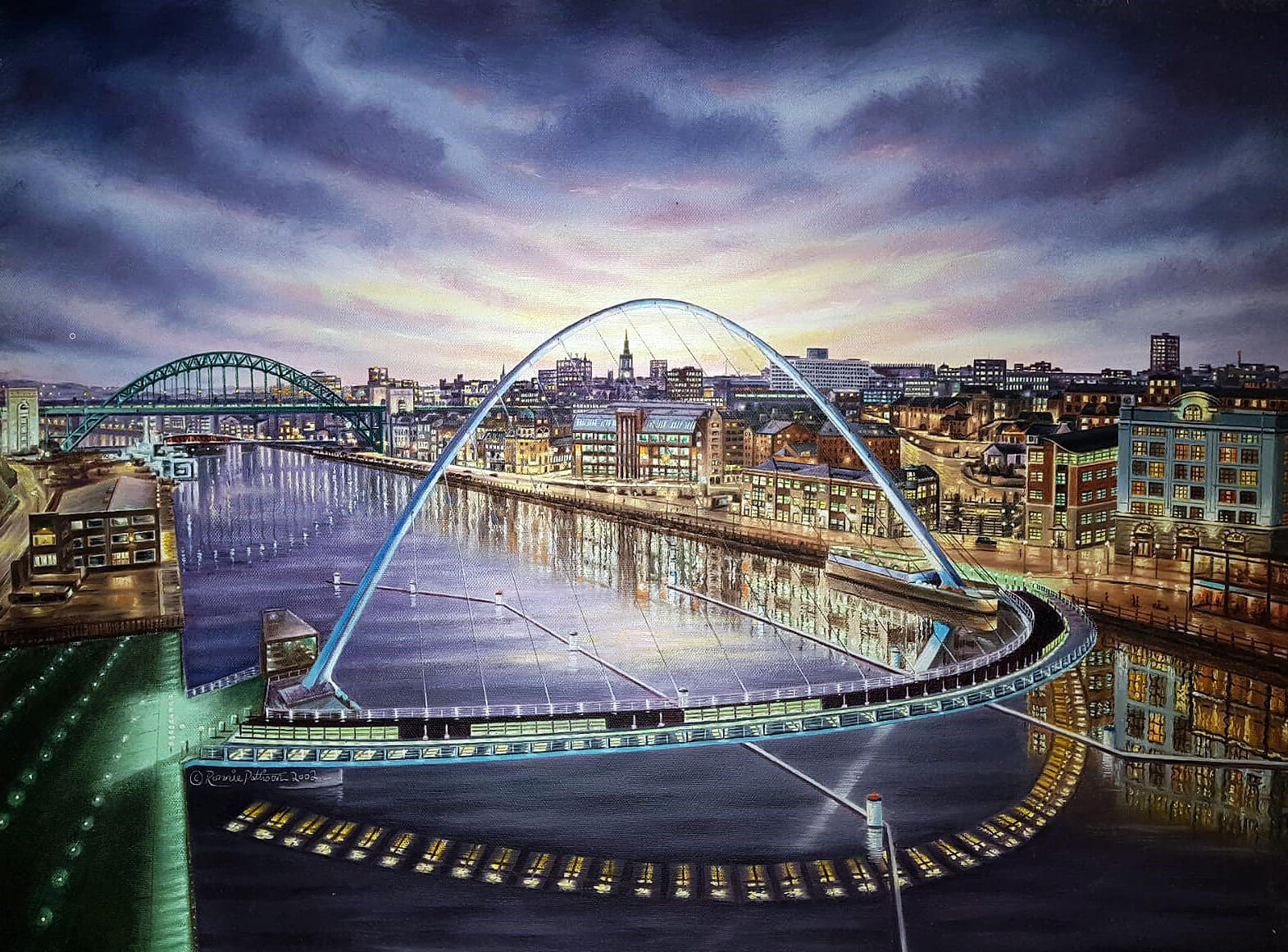 Millenium Bridge Oil Painting