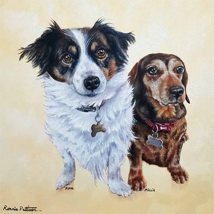 Pippa & Millie - Pet Portrait