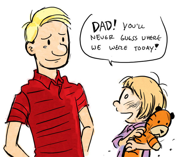 Calvin as a dad...