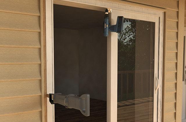 installer une porte patio coulissante