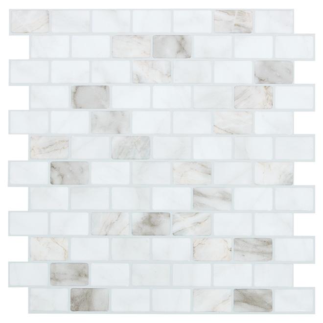 Self Adhesive Wall Tile Ravenna Blanco Marble RONA