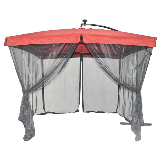 Parasol Excentr Pour Patio Lumire Solaire Avec Filet