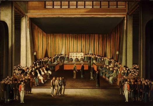 Court Room Trial of Four British Seamen at Canton