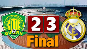 Beijing Guoan 2:3 Real Madrid. Full time!