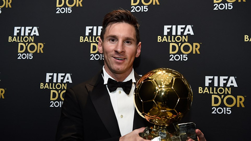 Messi wins the FIFA Ballon d'Or 2015. Ronaldo finished second