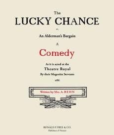 The Lucky Chance: A Comedy