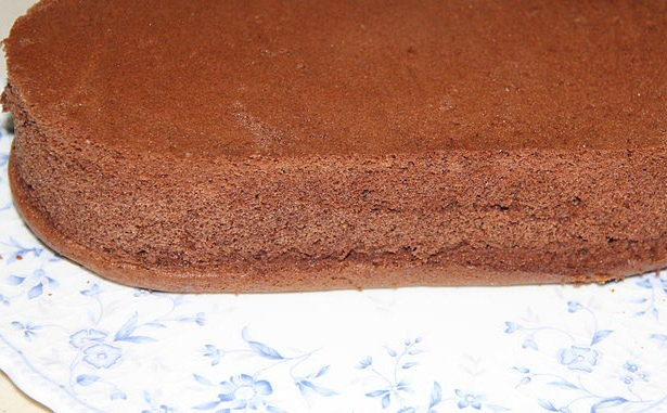 Genoise with Amaretto and Chocolate