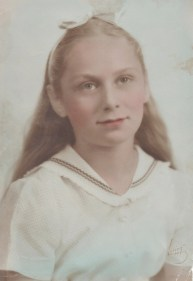 My mother at eleven years old; the inspiration for Shirley Levy in Shayna's Song.