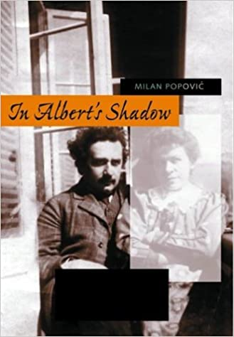"""book cover """"In Albert's Shadow"""" by Milan Popovic, telling the story of his forgotten first wife"""