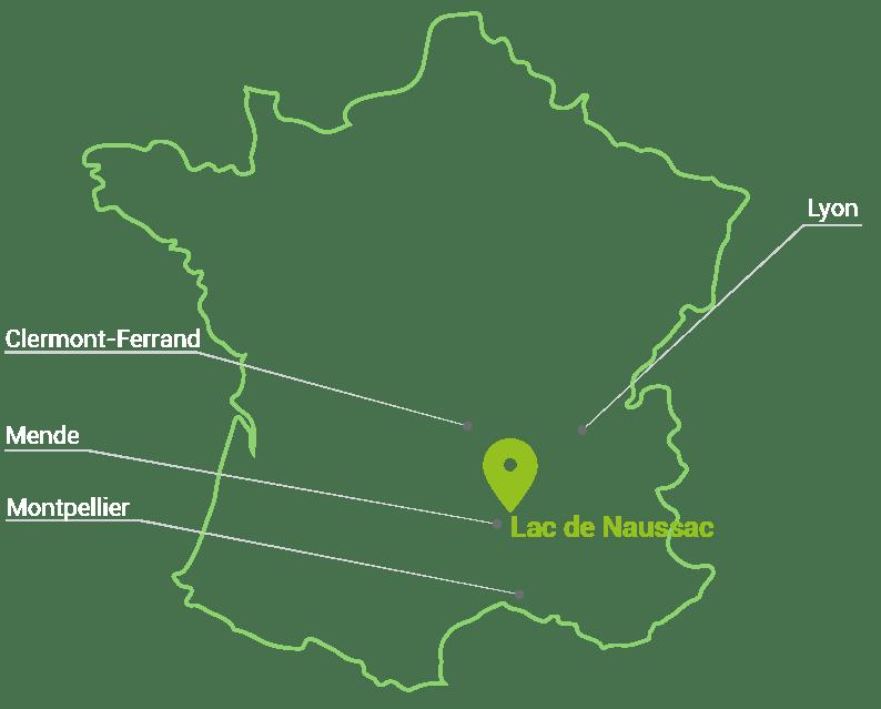 Rondin Parc lac de naussac lozère langogne 48