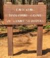 Toegangsbord Tuolumne Grove
