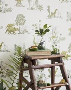 Magnetic Dinosaur Wallpaper for Kids