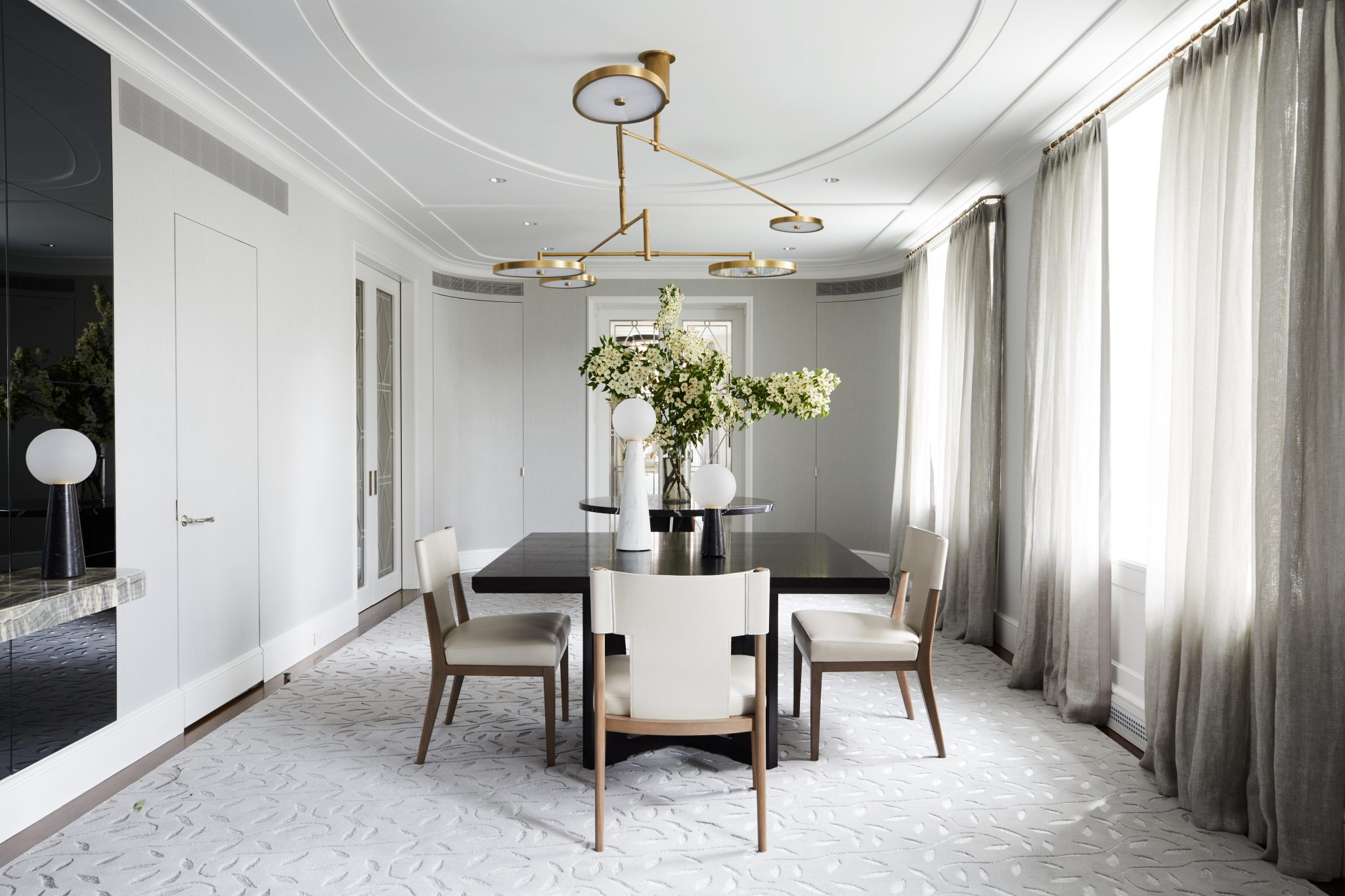 modern contemporary dining room furniture. Flexible formal dining room in park avenue modern apartment  Full Screen Classic Contemporary Park Avenue Apartment Ronen Lev