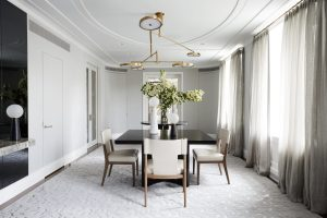 Flexible formal dining room in park avenue modern apartment.