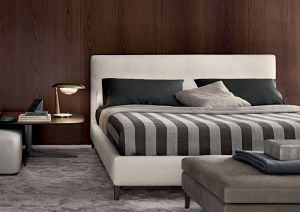 Minotti Anderson Bed upholstered modern bed