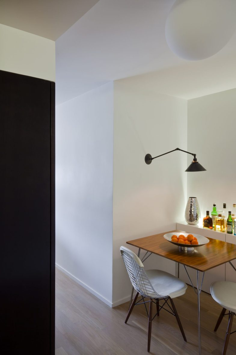 entertaining space dining nook studio apartment