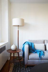 warm modern apartment renovation