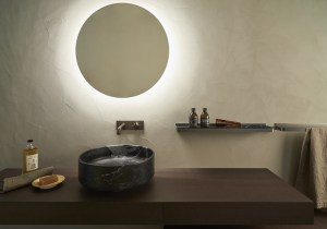 Agape Bucatini hanging mirror for bathroom