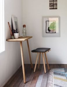 Georg side console table with stool