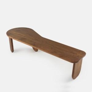 De La Espada Kim wood nesting bench