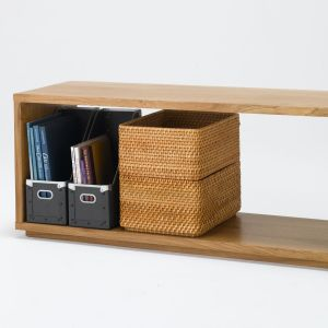 Muji oak wood bench