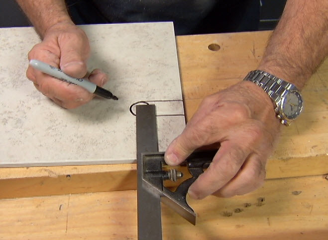 how to make holes in ceramic tile ron
