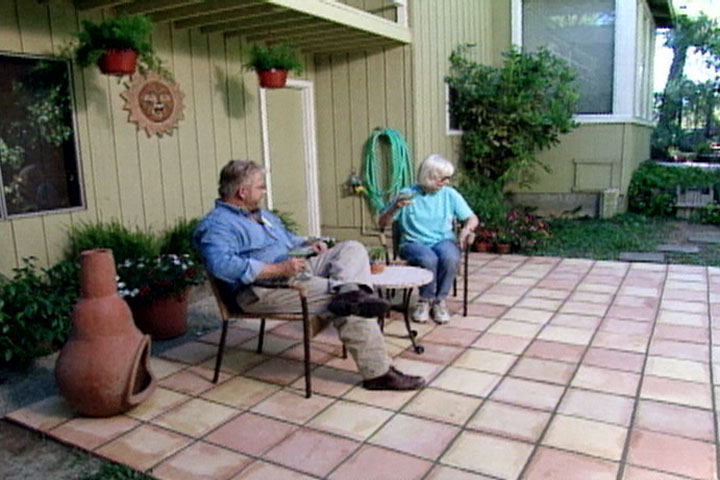 how to make a tile patio
