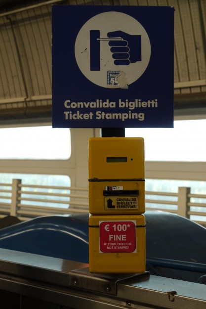 FCO Validation box 417x625 The Train Station at the Rome Airport (FCO)