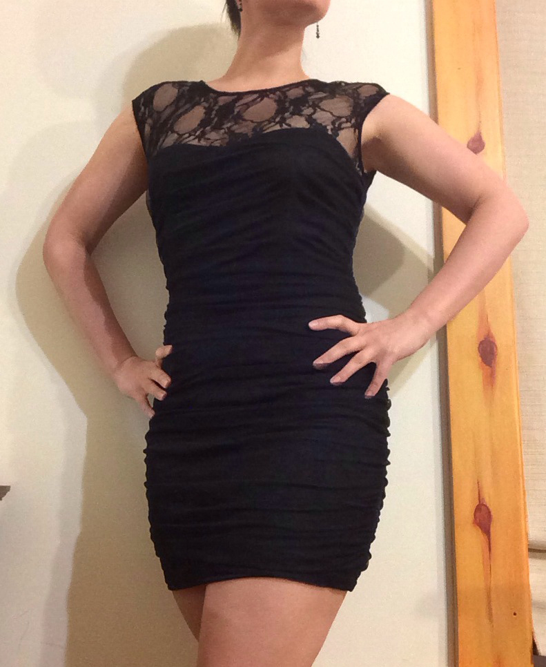 Little Black Dress with Lace perfect for a cocktail Party.