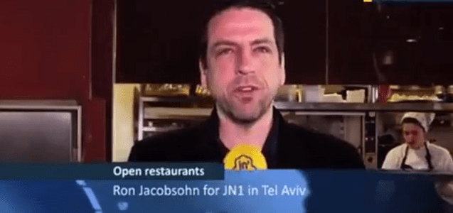 Ron Jacobsohn Reports from the first Open Restaurants in Tel-Aviv