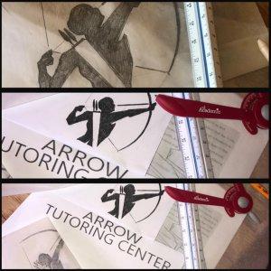 arrow tutoring center hand drawn logo ryan
