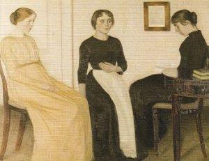 3人の若い女性