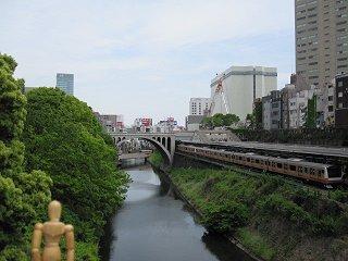 神田川と聖橋と中央線