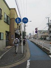 歩道と自転車道が分離されてる