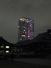 プリンスホテルに写る東京タワー