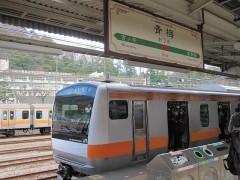 青梅駅に到着