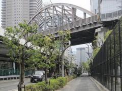 新幹線回送線と東海道貨物線(休止中)の下をくぐる