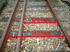 参考 一般的な狭軌(在来線)と新幹線のレール幅