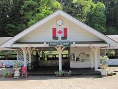 カナダ村の玄関口ネルソン駅