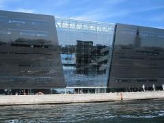 ブラックダイヤモンドと呼ばれているデンマーク王立図書館