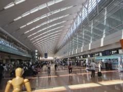 飛行機に乗るために来たのは1年ぶりの羽田空港