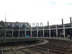 旧梅小路蒸気機関車館の扇形機関庫