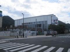 改修工事中の門司港駅