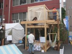 自然素材を多用した小屋