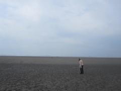 草原お先には広大な干潟