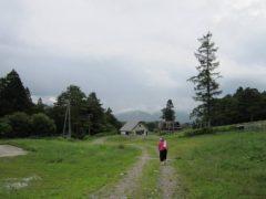 夏のスキー場を歩く…