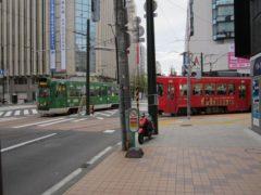 環状運転する札幌市電