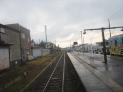列車に乗っているうちに雨が上がった