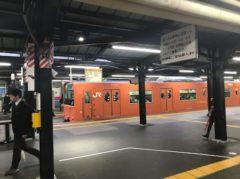 天王寺駅に停車中の201系
