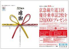 京急創立120周年記念